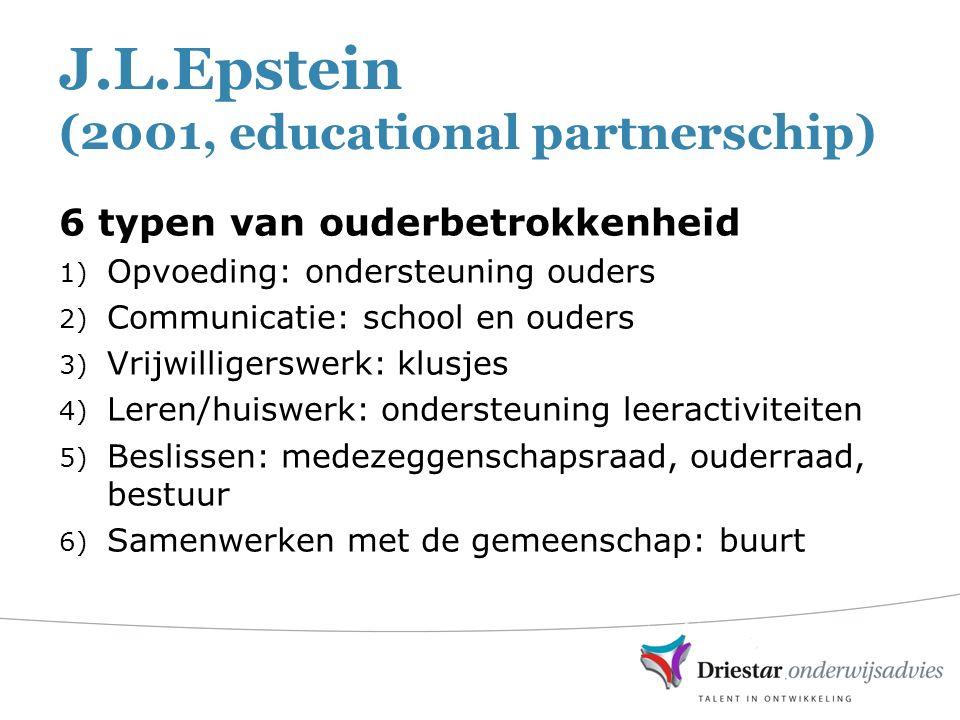 J.L.Epstein (2001, educational partnerschip)