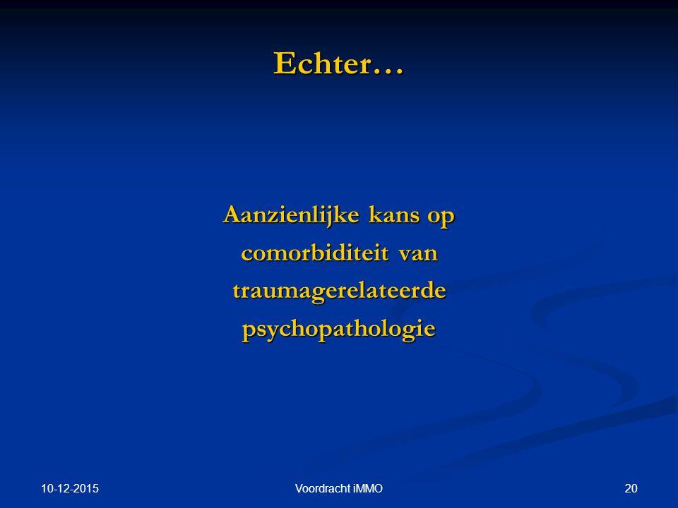 Echter… Aanzienlijke kans op comorbiditeit van traumagerelateerde