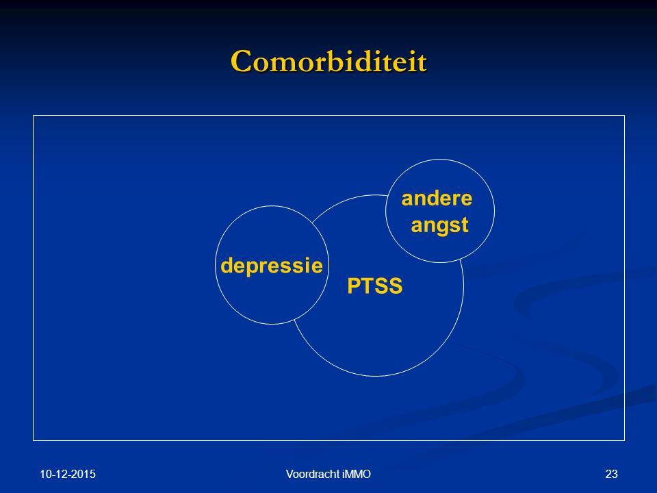 Comorbiditeit andere angst PTSS depressie 25-4-2017 Voordracht iMMO