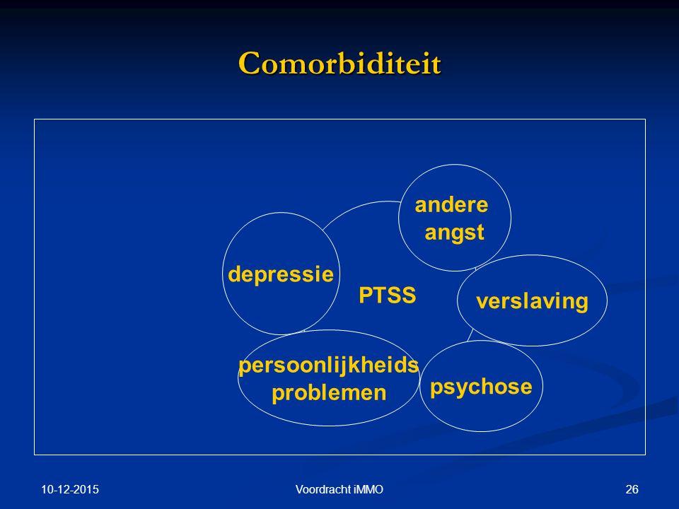 Comorbiditeit andere angst depressie PTSS verslaving persoonlijkheids