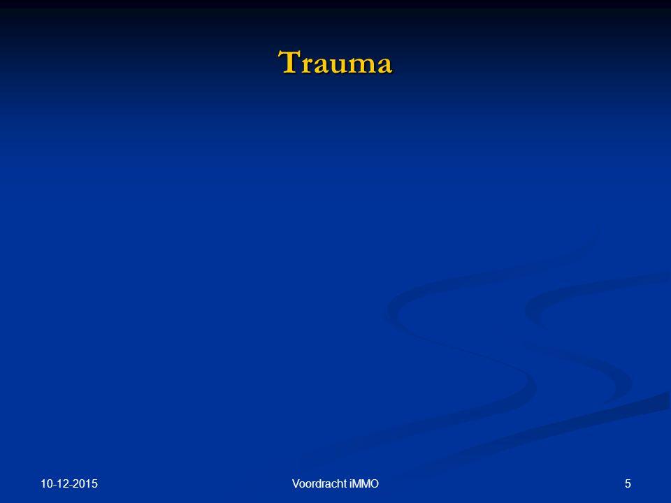 Trauma 25-4-2017 Voordracht iMMO