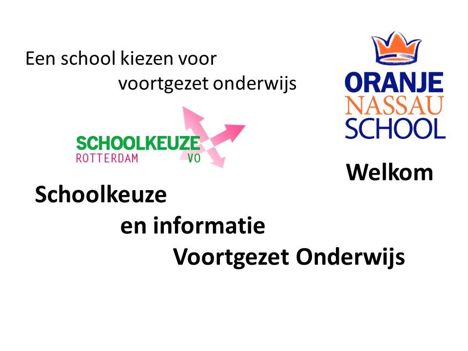Welkom Een school kiezen voor voortgezet onderwijs