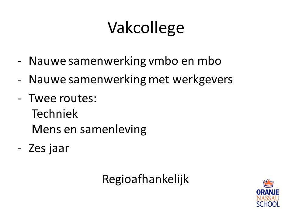Vakcollege Nauwe samenwerking vmbo en mbo