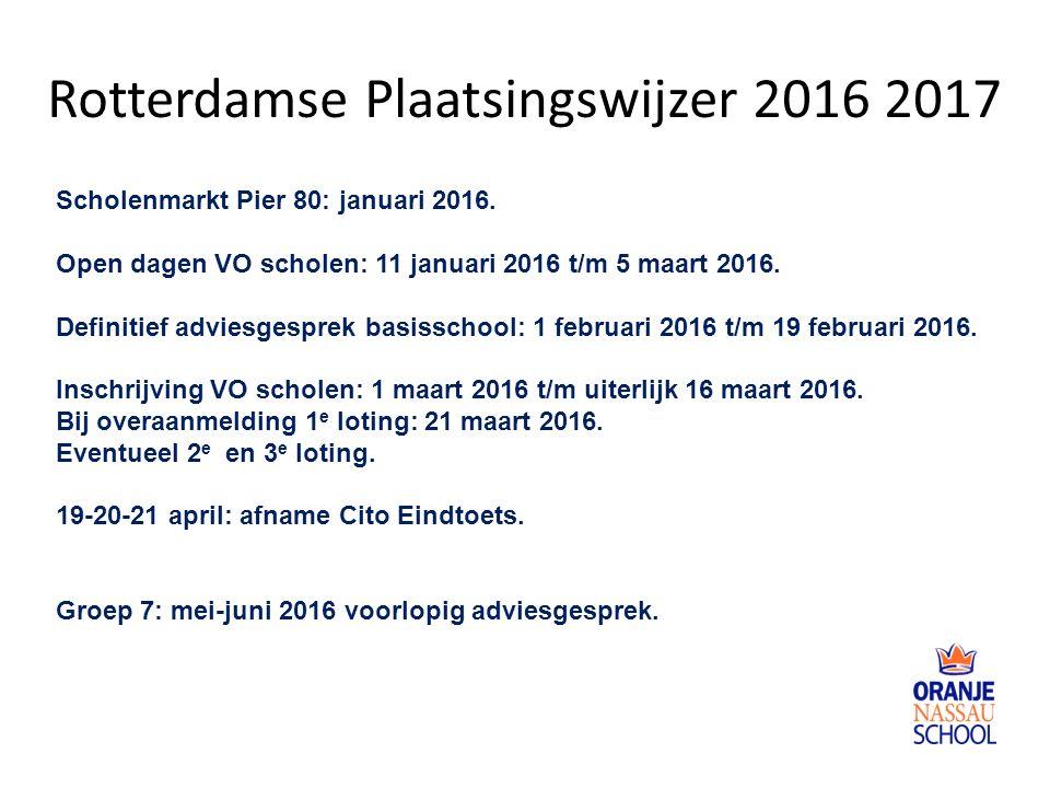 Rotterdamse Plaatsingswijzer 2016 2017