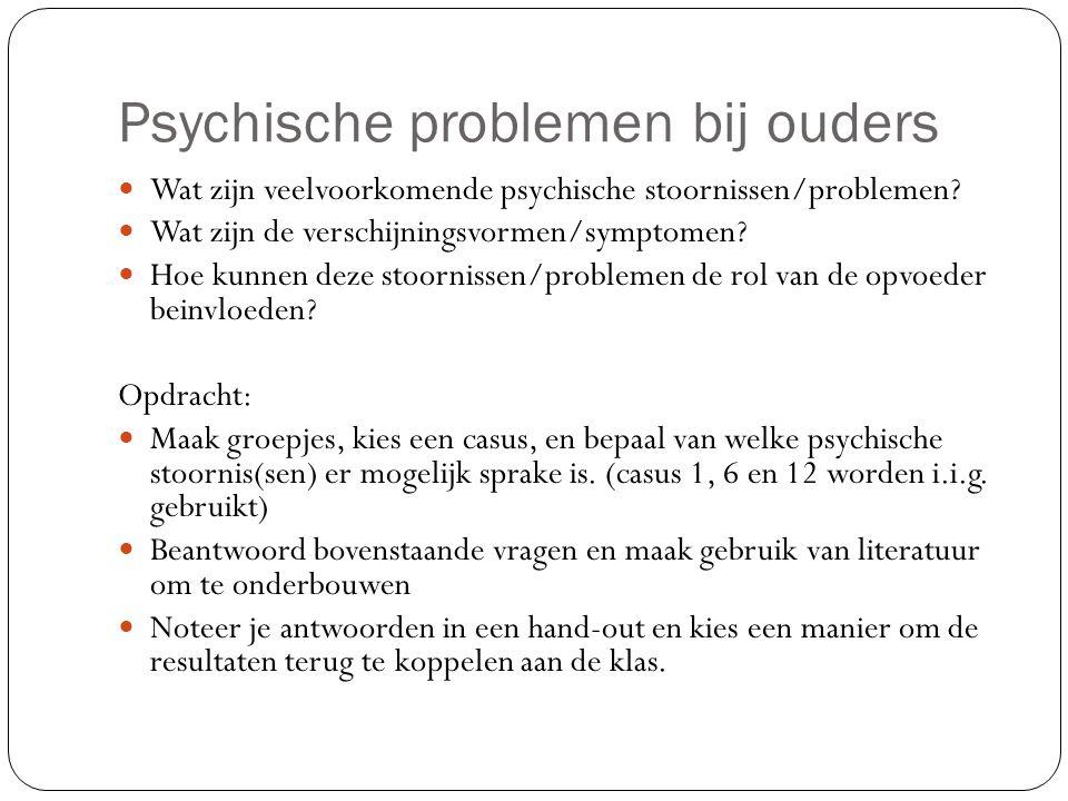 Psychische problemen bij ouders