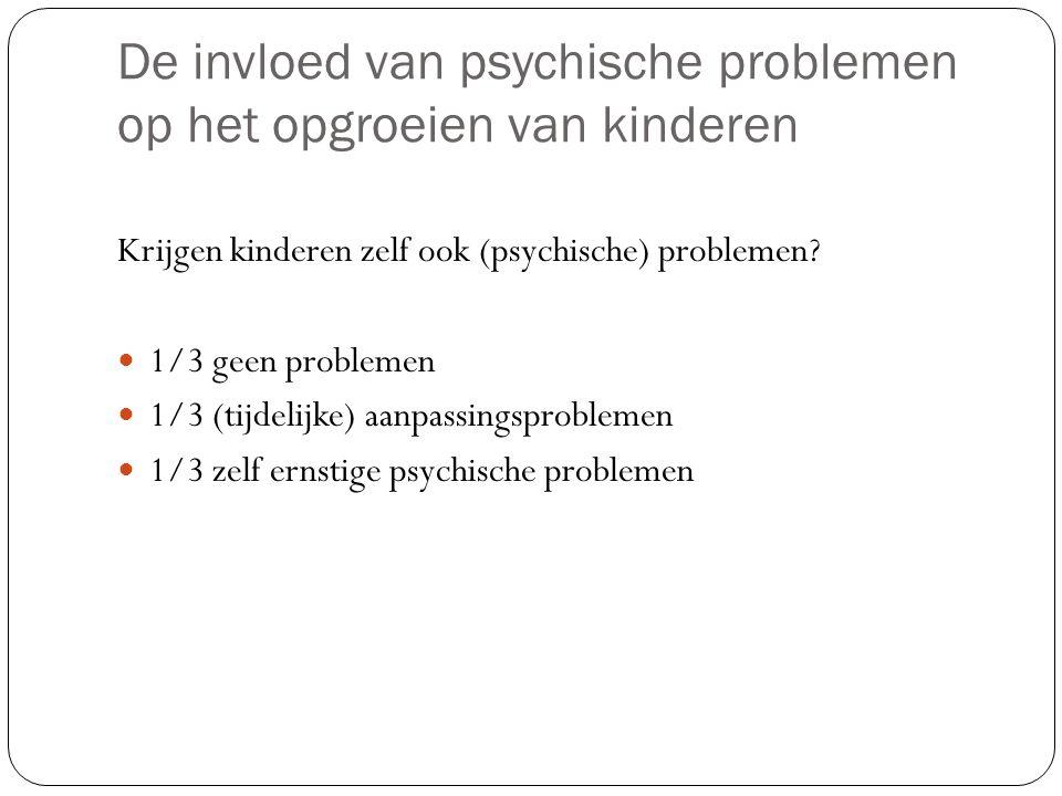 De invloed van psychische problemen op het opgroeien van kinderen