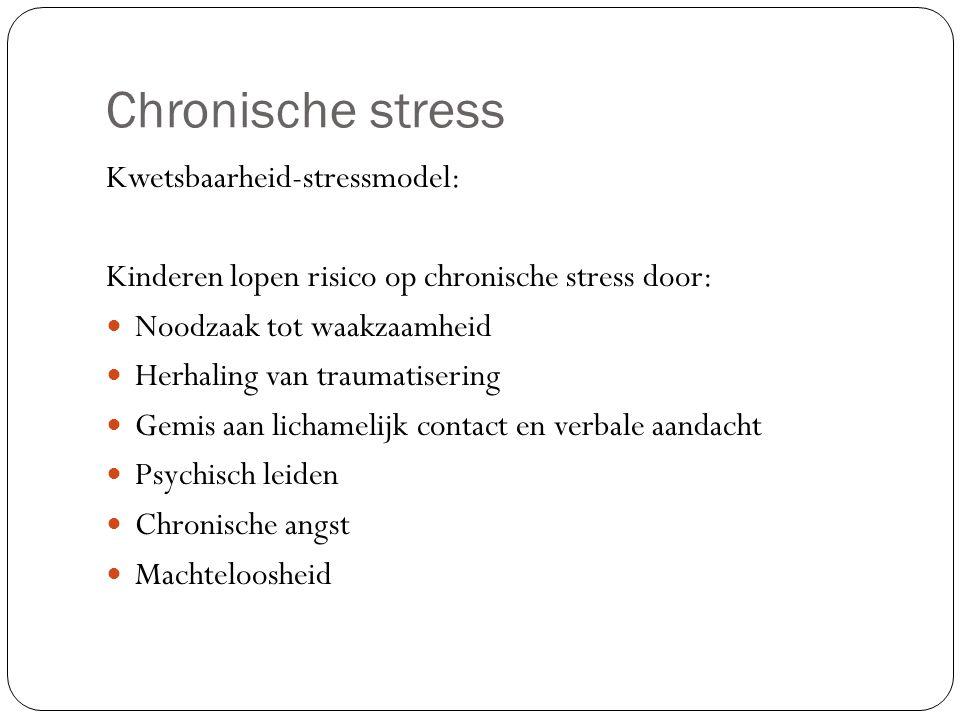 Chronische stress Kwetsbaarheid-stressmodel: