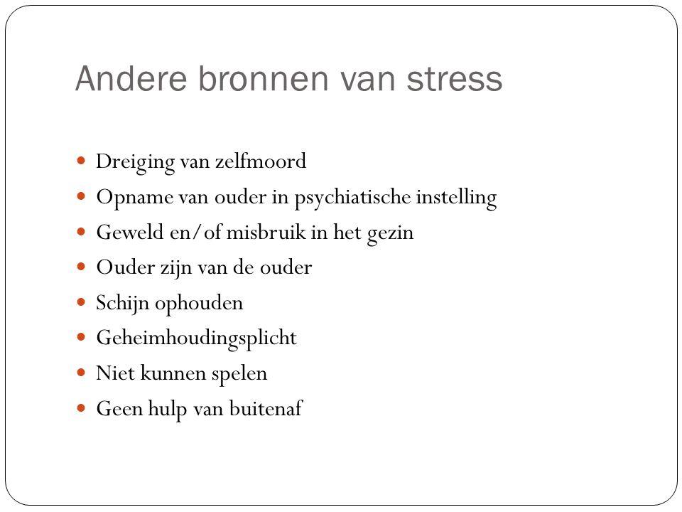 Andere bronnen van stress