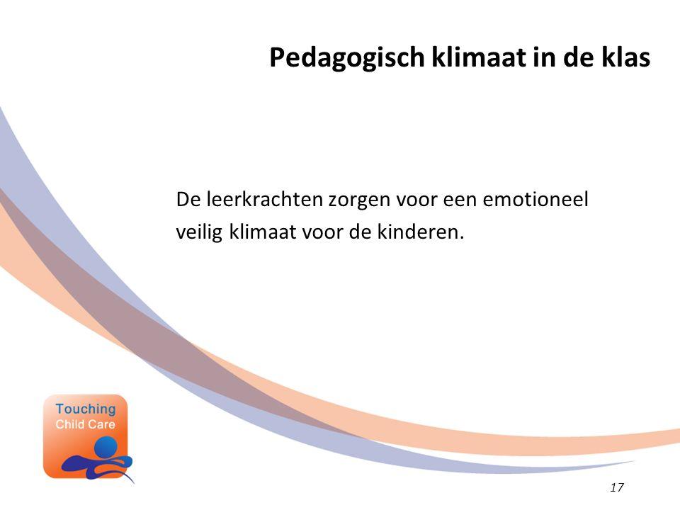 Pedagogisch klimaat in de klas