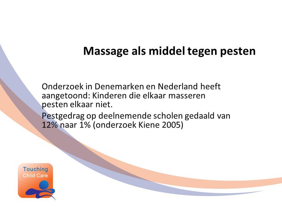 Massage als middel tegen pesten