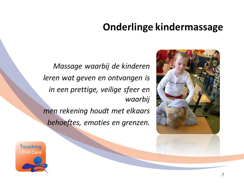 Onderlinge kindermassage