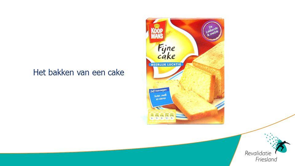 Het bakken van een cake