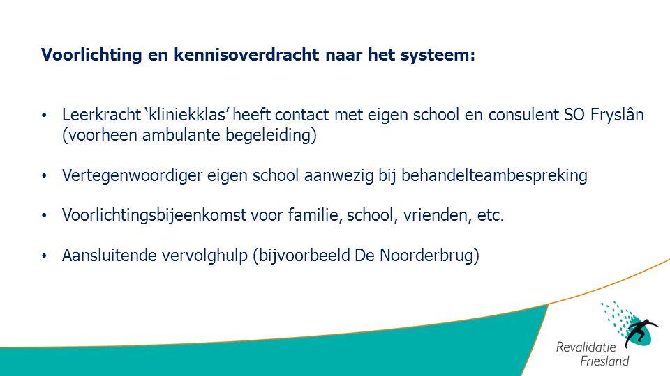 Voorlichting en kennisoverdracht naar het systeem: