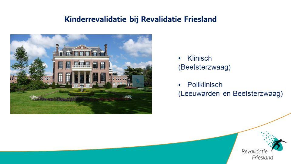 Kinderrevalidatie bij Revalidatie Friesland
