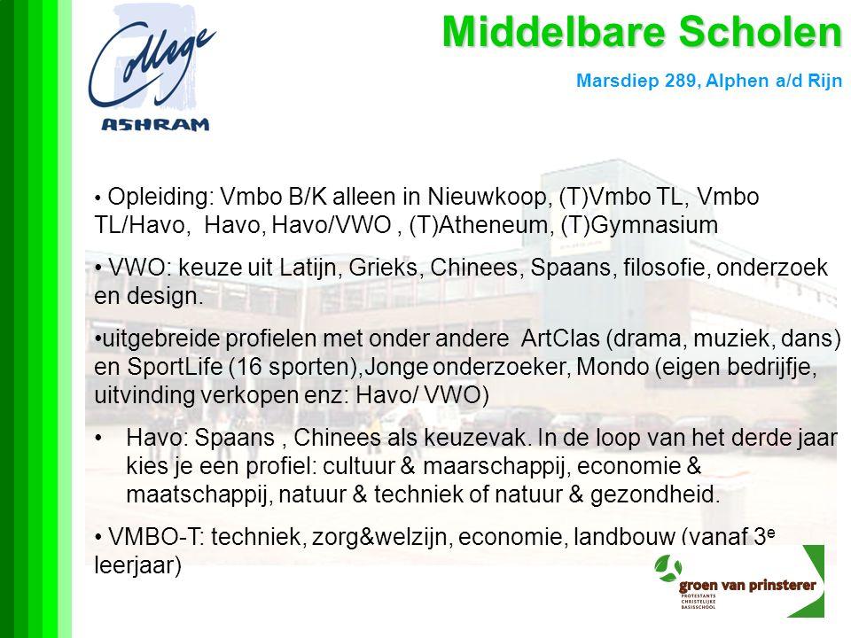 Middelbare Scholen Marsdiep 289, Alphen a/d Rijn.