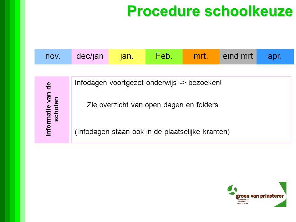 Informatie van de scholen