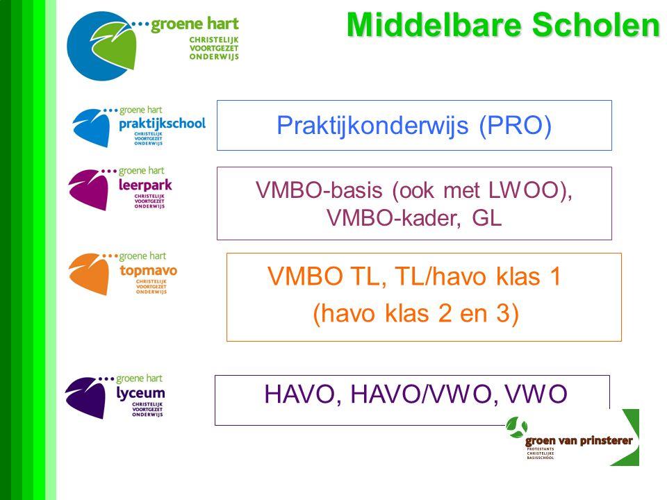 Middelbare Scholen Praktijkonderwijs (PRO) VMBO TL, TL/havo klas 1