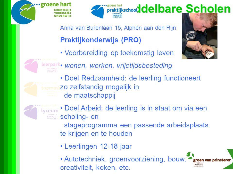 Middelbare Scholen Praktijkonderwijs (PRO)