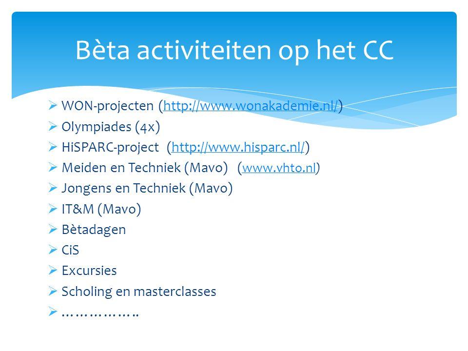 Bèta activiteiten op het CC