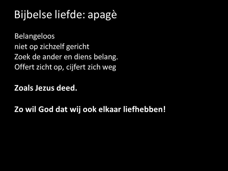 Bijbelse liefde: apagè