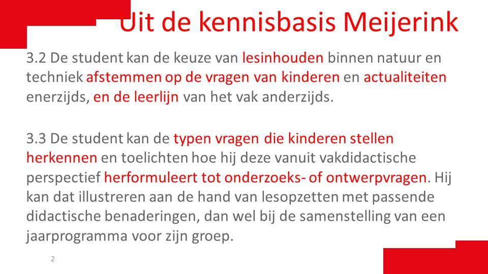 Uit de kennisbasis Meijerink