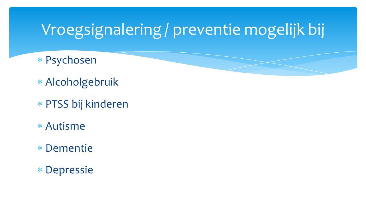 Vroegsignalering / preventie mogelijk bij