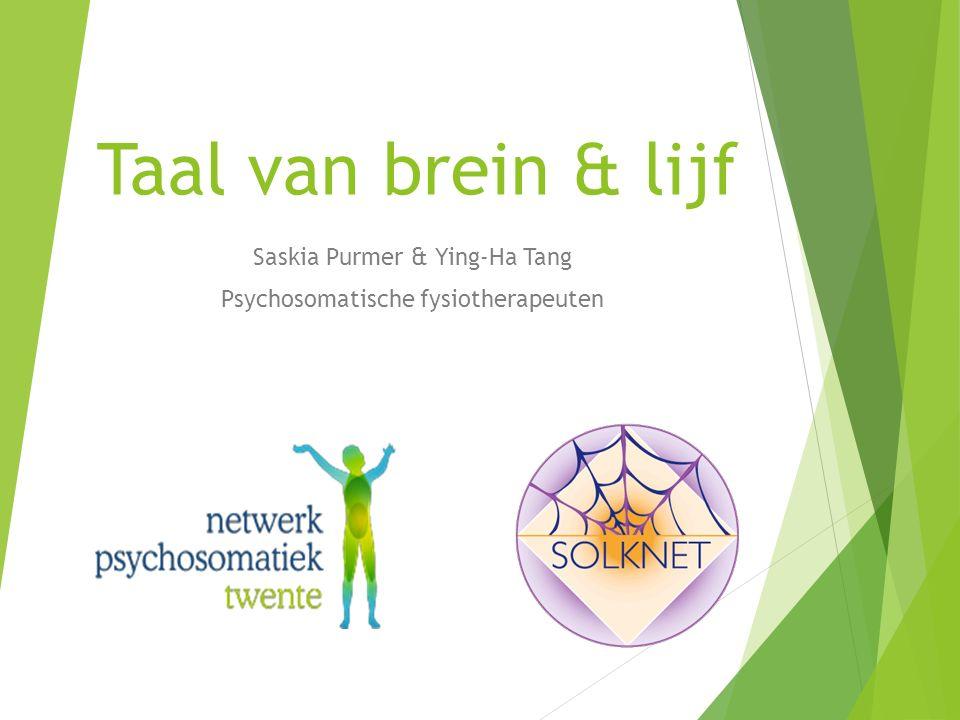 Saskia Purmer & Ying-Ha Tang Psychosomatische fysiotherapeuten