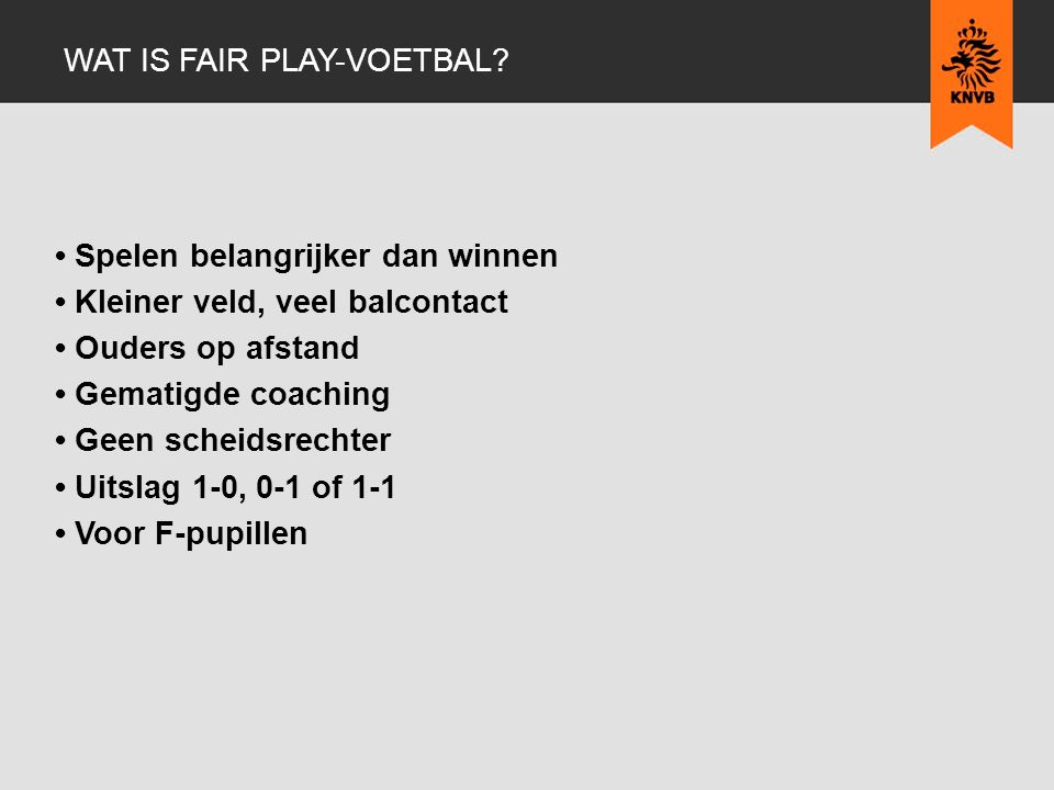 Wat is fair play-voetbal