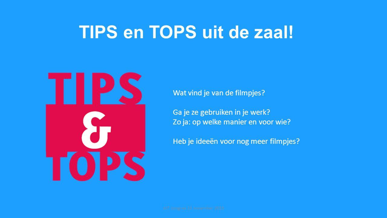 TIPS en TOPS uit de zaal! Wat vind je van de filmpjes
