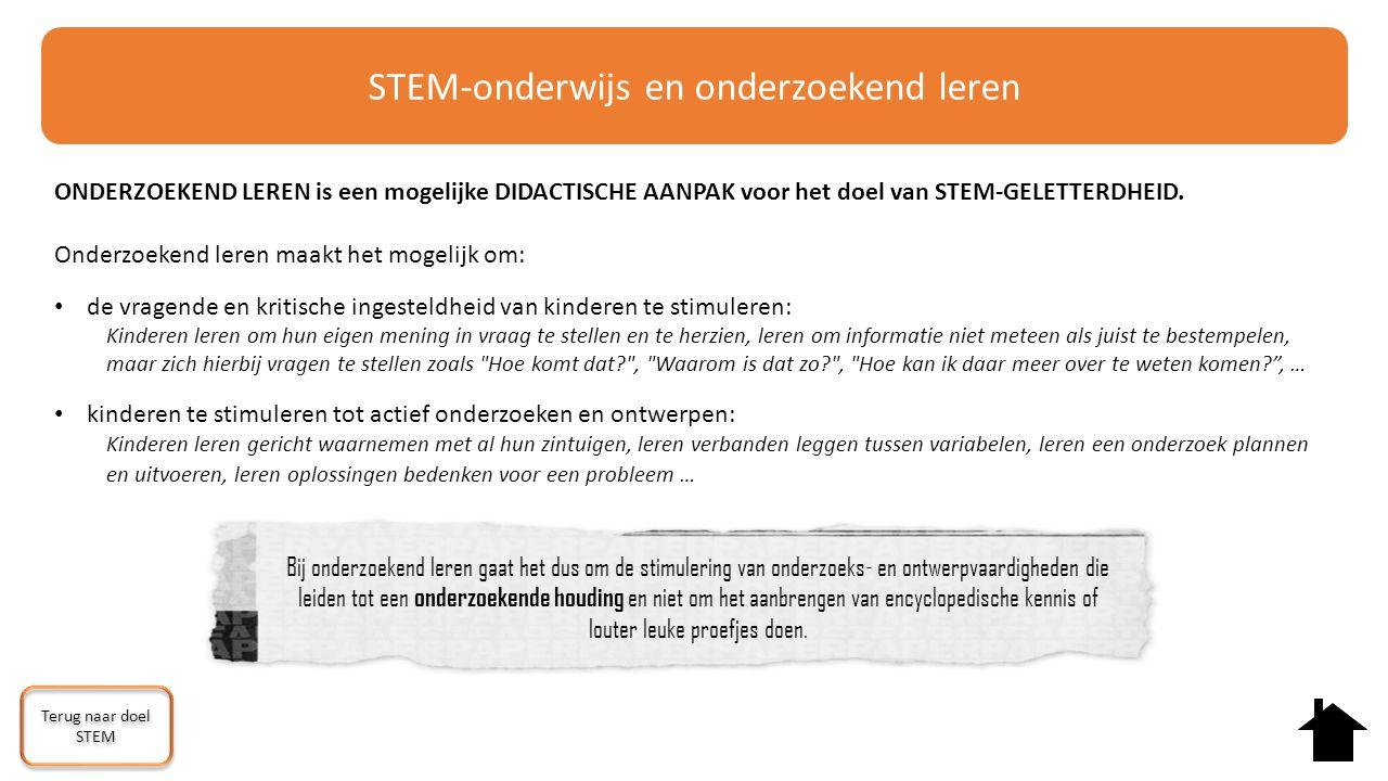 STEM-onderwijs en onderzoekend leren