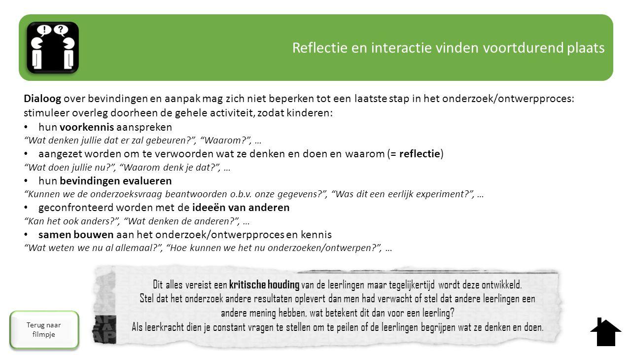 Reflectie en interactie vinden voortdurend plaats