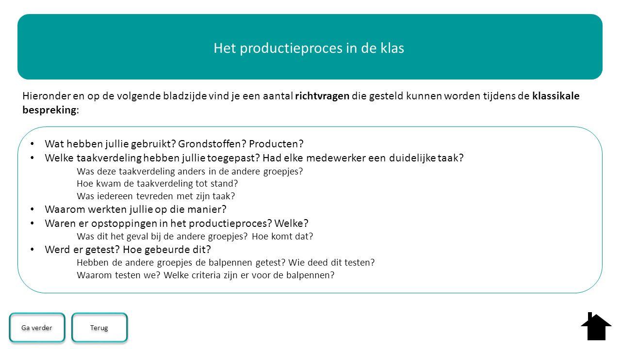 Het productieproces in de klas
