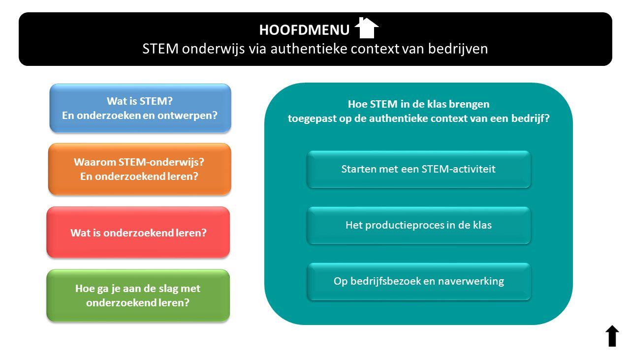 STEM onderwijs via authentieke context van bedrijven