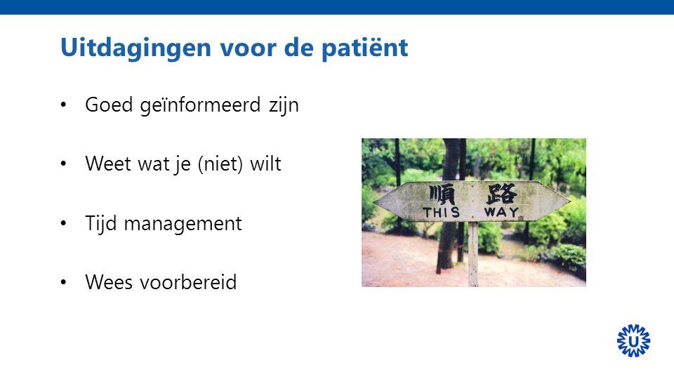 Uitdagingen voor de patiënt