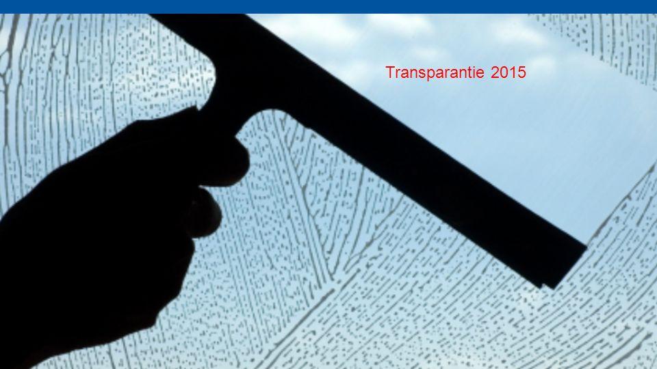 Transparantie 2015