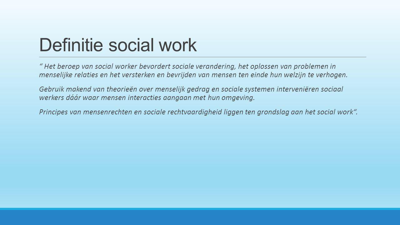 Definitie social work