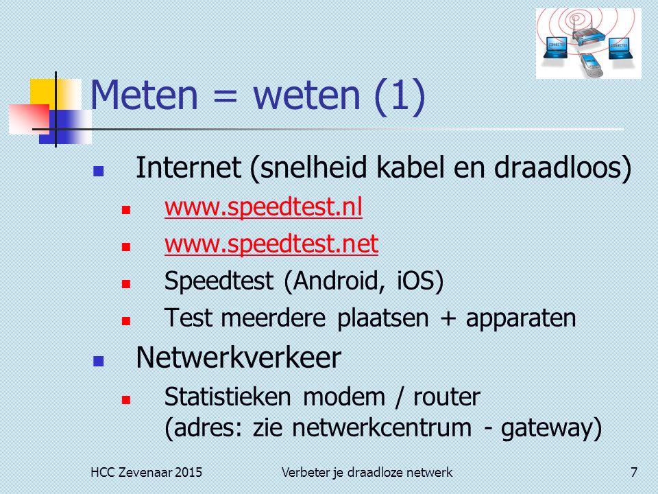 internet snelheid testen gratis