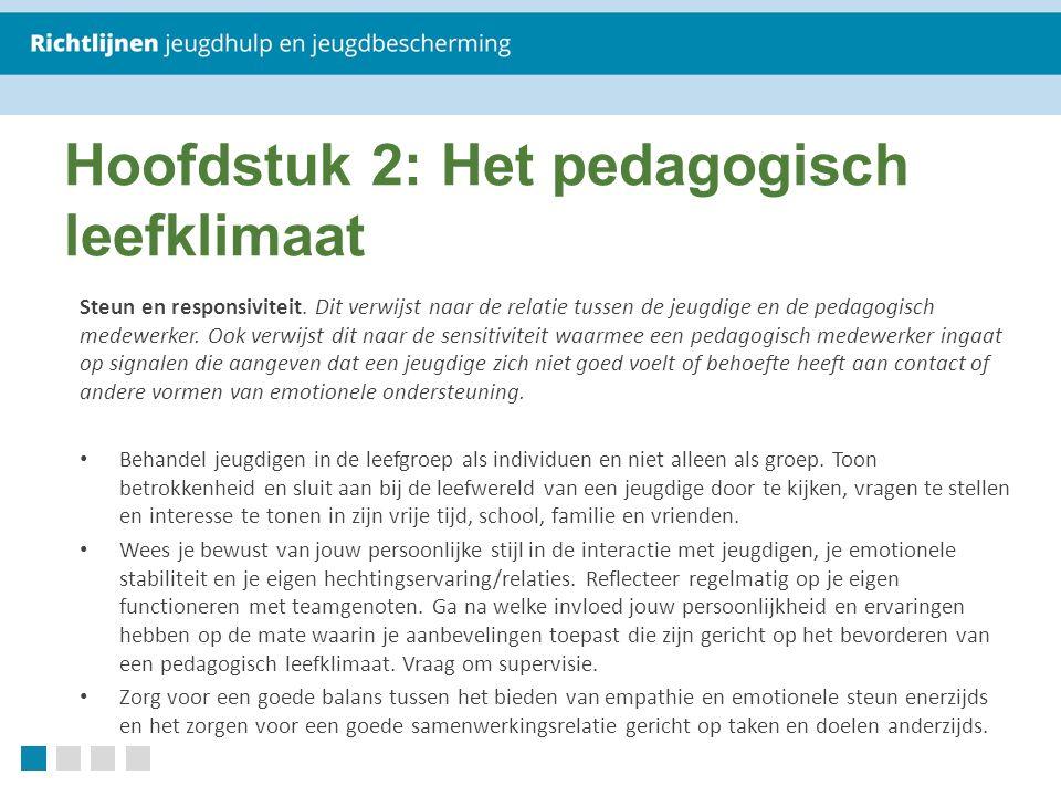 Hoofdstuk 2: Het pedagogisch leefklimaat