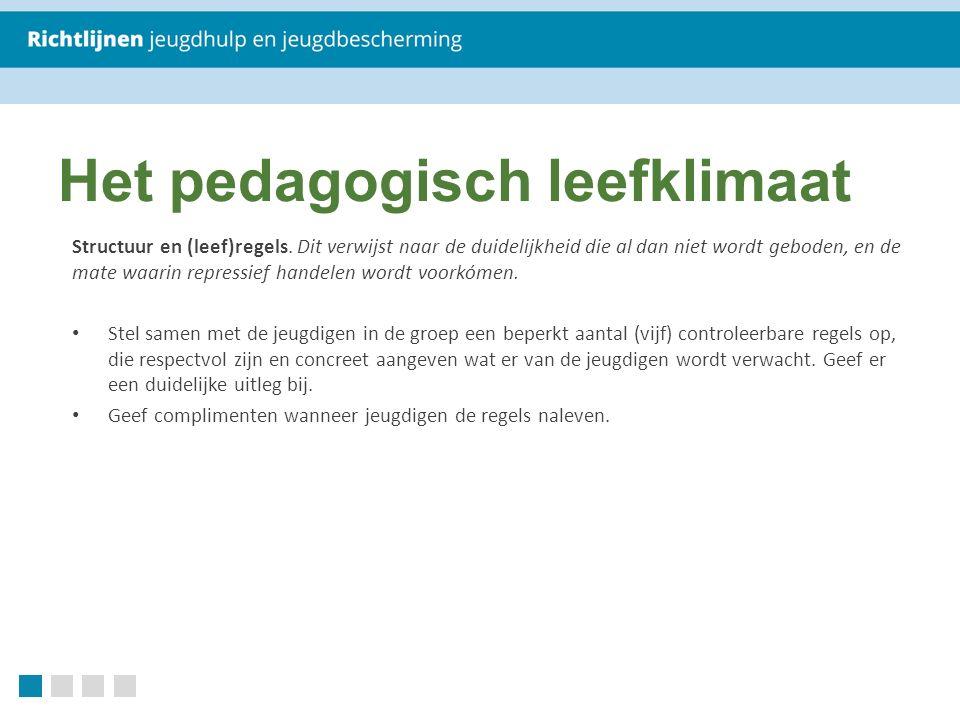 Het pedagogisch leefklimaat