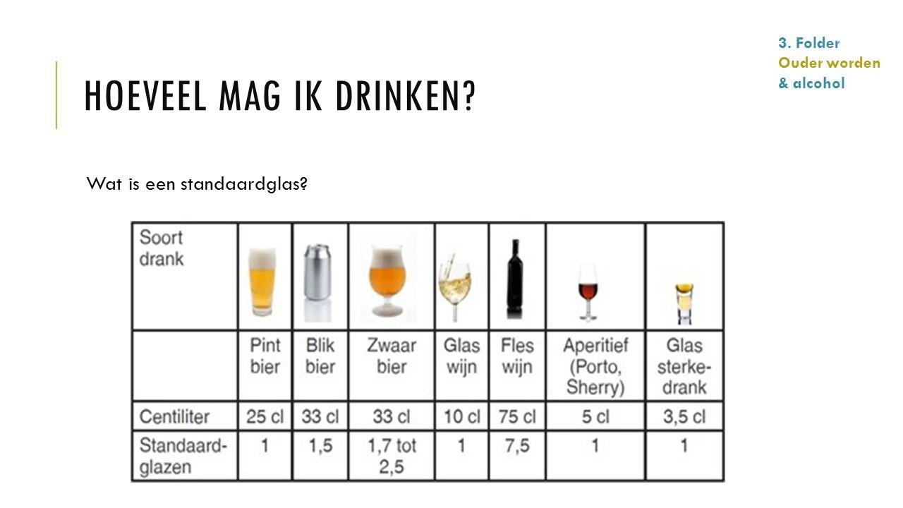Hoeveel mag ik drinken Wat is een standaardglas