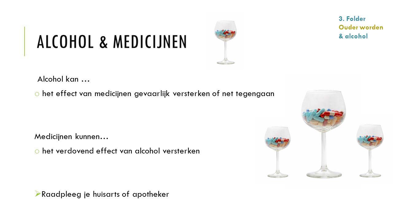 Alcohol & medicijnen Alcohol kan …