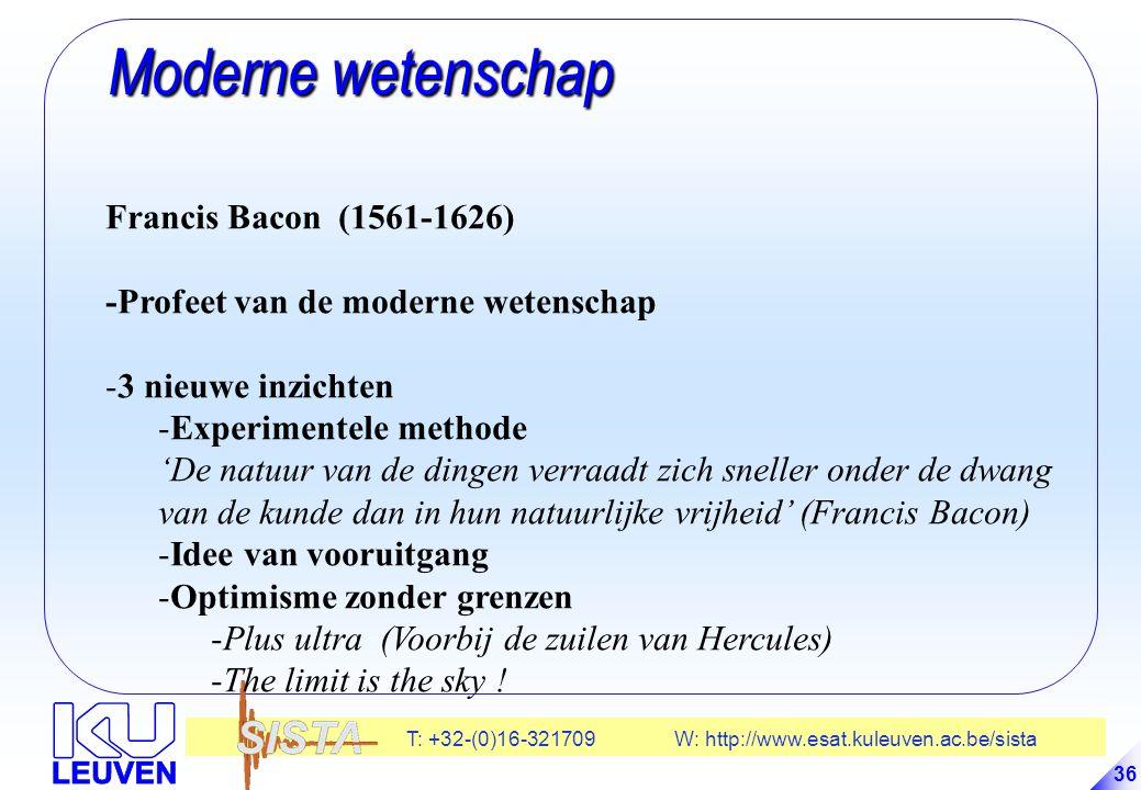 Moderne wetenschap Francis Bacon (1561-1626)