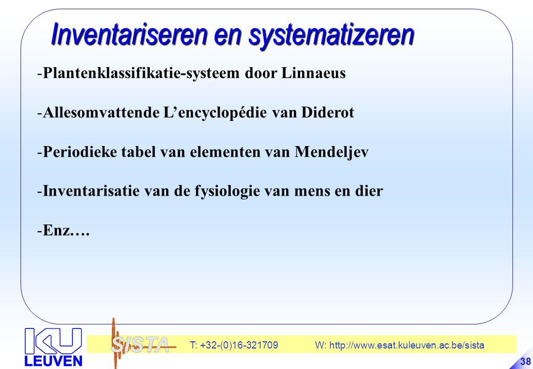 Inventariseren en systematizeren