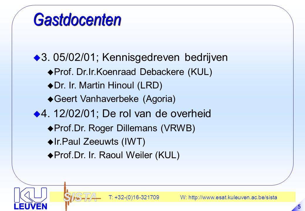 Gastdocenten 3. 05/02/01; Kennisgedreven bedrijven