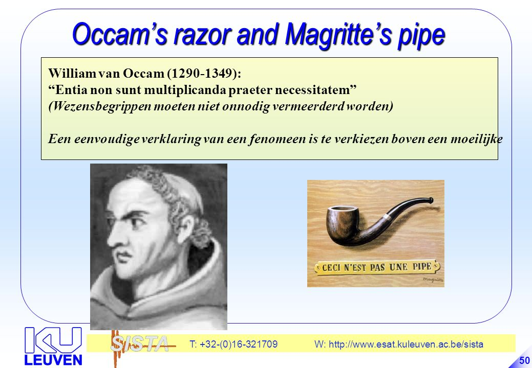 Occam's razor and Magritte's pipe