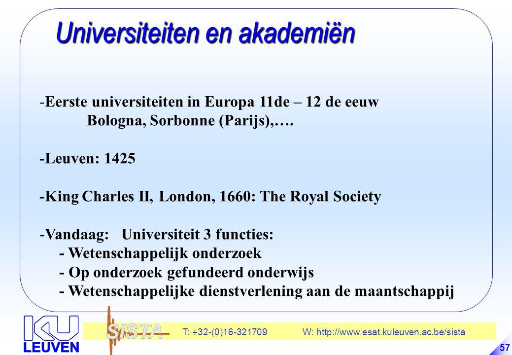 Universiteiten en akademiën