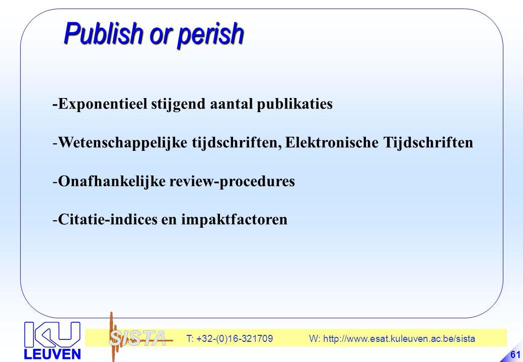 Publish or perish -Exponentieel stijgend aantal publikaties