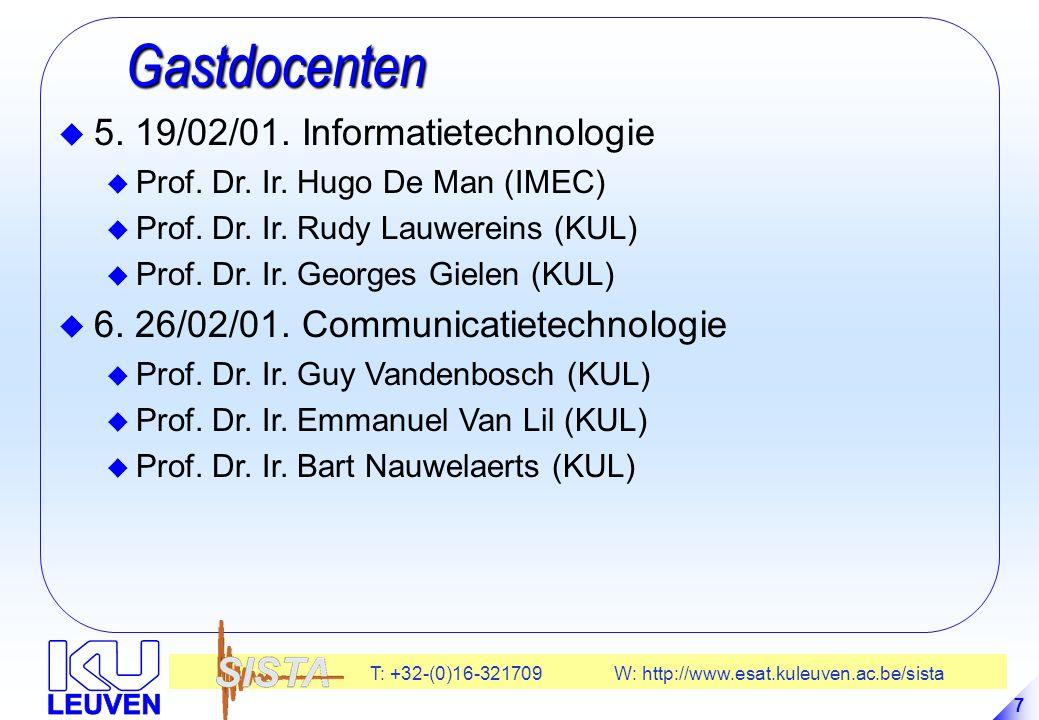Gastdocenten 5. 19/02/01. Informatietechnologie