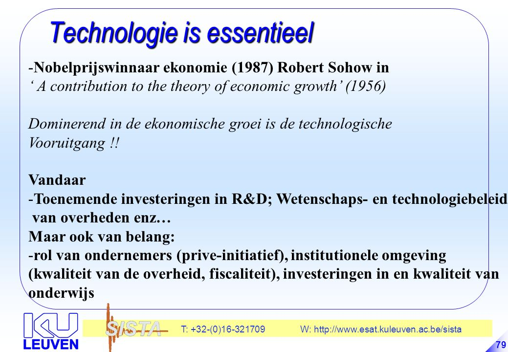 Technologie is essentieel