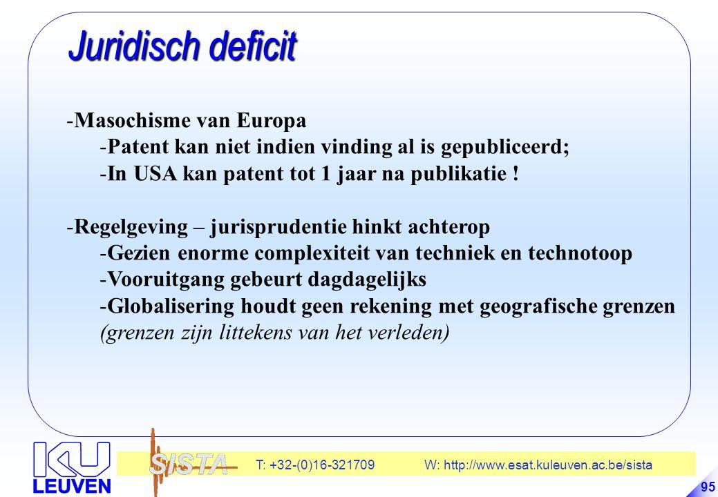 Juridisch deficit Masochisme van Europa